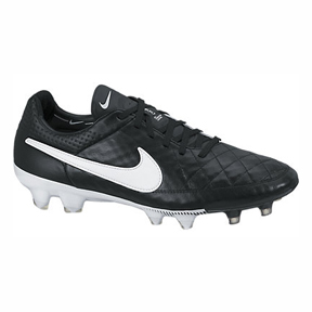 Nike  Tiempo Legend  V FG Soccer Shoes (Black/White)