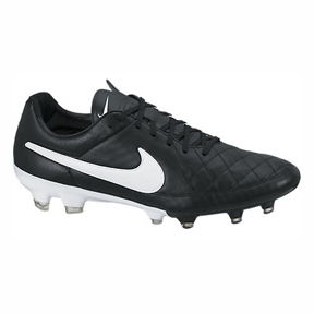 Nike Tiempo Legacy FG Soccer Shoes (Black/White)
