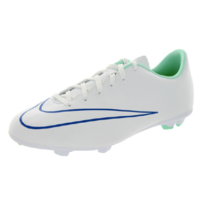 Nike Youth Mercurial Victory V FG Soccer Shoes (White/Cobalt)