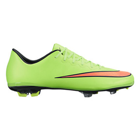Nike Youth Mercurial Vapor  X FG Soccer Shoes (Electric Green)