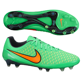 Nike Magista  Opus FG Soccer Shoes (Poison Green/Orange)