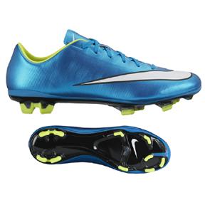 Nike Womens  Mercurial Veloce II FG Soccer Shoes (Blue Lagoon)