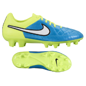 Nike Womens Tiempo Legacy FG Soccer Shoes (Blue Lagoon)