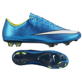 Nike Womens  Mercurial Vapor  X FG Soccer Shoes (Blue Lagoon)