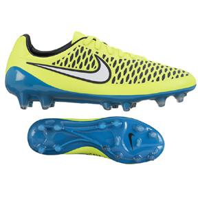 Nike Womens  Magista Opus FG Soccer Shoes (Volt/Lagoon)