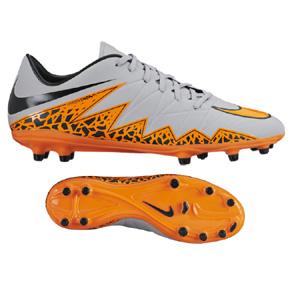 Nike HyperVenom Phelon II FG Soccer Shoes (Wolf Grey/Orange)