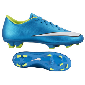 Nike Womens Mercurial Victory V FG Soccer Shoes (Blue Lagoon)