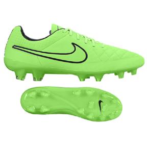 Nike  Tiempo Legend  V FG Soccer Shoes (Green Strike/Black)