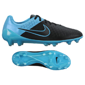 Nike Magista  Opus Leather FG Soccer Shoes (Black/Turquoise)