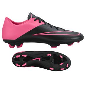 Nike Mercurial Victory V FG Soccer Shoes (Black/Pink)