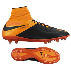 Nike  HyperVenom  Phantom II Leather FG Soccer Shoes (Orange)