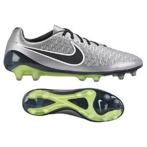 Nike  Magista Opus FG Soccer Shoes (Metallic Pewter/Black)