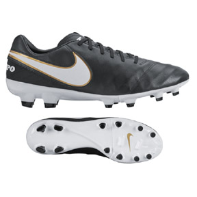 Nike  Tiempo Mystic V FG Soccer Shoes (Black/White/Gold)