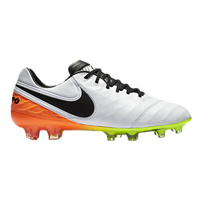 Nike  Tiempo Legend   VI FG Soccer Shoes (White/Orange)
