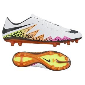 Nike  HyperVenom Phatal  II FG Soccer Shoes (White/Multi)