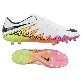 Nike  HyperVenom Phinish  II FG Soccer Shoes (White/Multi)