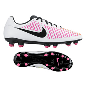 Nike Magista Onda FG Soccer Shoes (White/Black/Pink)