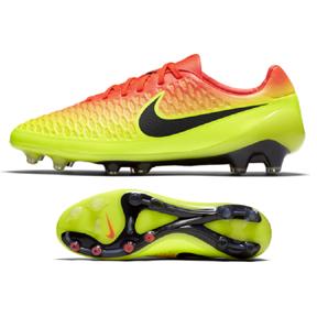 Nike  Magista Opus FG Soccer Shoes (Total Crimson/Citrus)