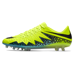 Nike  HyperVenom Phinish  II FG Soccer Shoes (Volt/Turquoise)