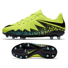 Nike Youth HyperVenom Phelon II FG Soccer Shoes (Volt/Black)