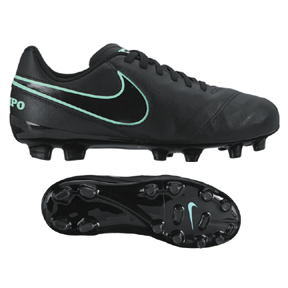 Nike Youth Tiempo Legend VI FG (Black/Turquoise)
