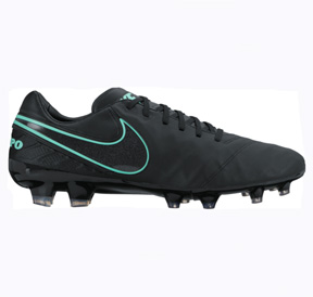 Nike  Tiempo Legacy  II FG Soccer Shoes (Black/Hyper Turquoise)