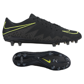 Nike  HyperVenom Phatal   II FG Soccer Shoes (Black/Volt)
