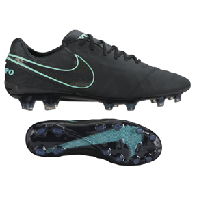 Nike  Tiempo Legend   VI FG Soccer Shoes (Black/Hyper Turquoise)