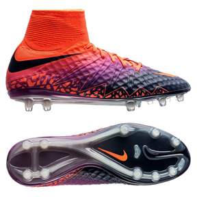 Nike  HyperVenom  Phantom II FG Soccer Shoes (Total Crimson)