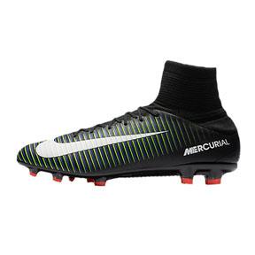 Nike  Mercurial Veloce  III FG Soccer Shoes (Black/White/Green)