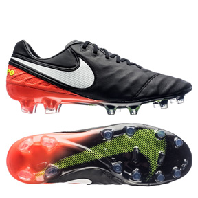Nike  Tiempo Legend   VI FG Soccer Shoes (Black/Hyper Orange)