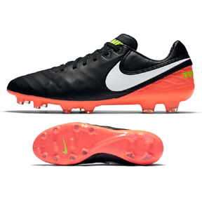 Nike  Tiempo Legacy  II FG Soccer Shoes (Black/Hyper Orange)