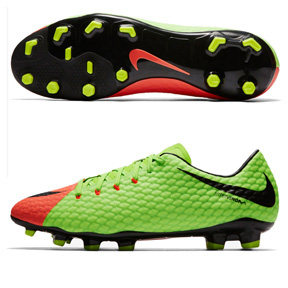 Nike HyperVenom Phelon  III FG Soccer Shoes (Electric/Black)