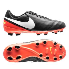 Nike Youth Tiempo Legend VI FG Soccer Shoes (Black/Hyper Orange)