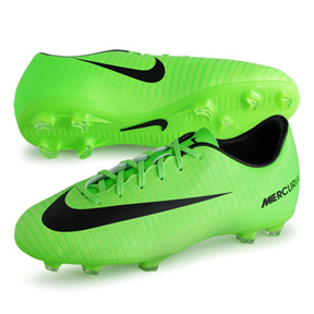 Nike Youth Mercurial Victory  VI FG Soccer Shoes (Electric Green)