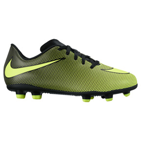 Nike Youth Bravata II FG Soccer Shoes (Black/Volt)