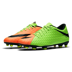 Nike HyperVenom Phade III FG Soccer Shoes (Green/Black)