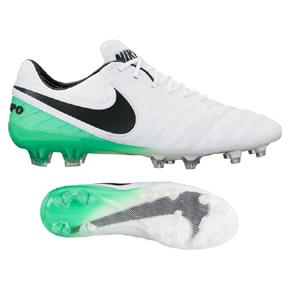 Nike  Tiempo Legend   VI FG Soccer Shoes (White/Electro Green)