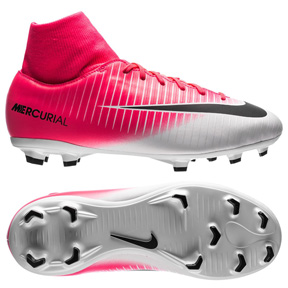 Nike Youth  Mercurial Victory  VI DF FG Soccer Shoes (Racer Pink)