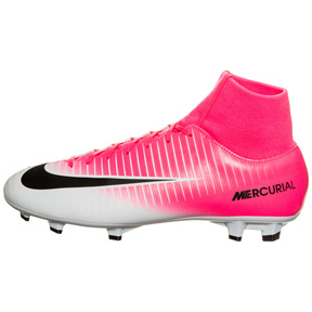 Nike  Mercurial Victory  VI DF FG Soccer Shoes (Pink/White)