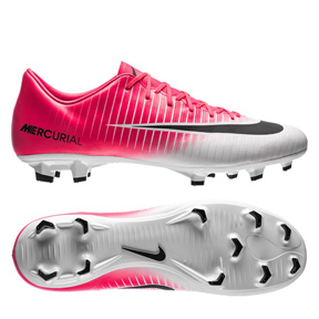 Nike Youth  Mercurial Vapor XI FG Soccer Shoes (Racer Pink/White)