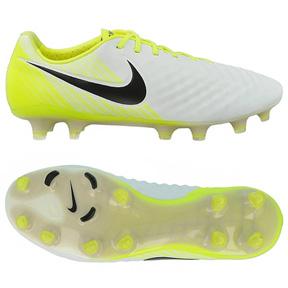 Nike  Magista Opus  II FG Soccer Shoes (White/Volt)