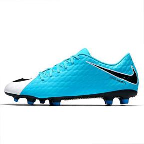 Nike HyperVenom Phade III FG Soccer Shoes (White/Blue)
