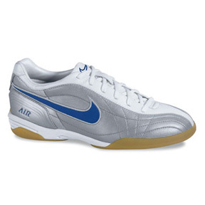Nike Womens Air Tiempo Mystic IC Indoor Soccer Shoes (Silver/Royal)