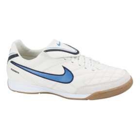 Nike Tiempo Mystic III IC Indoor Soccer Shoes (White/Blue)