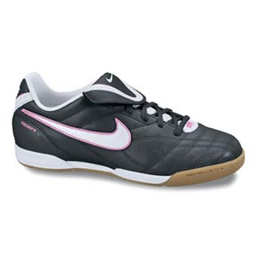 Nike Youth Tiempo Natural III Indoor Shoes (Black/White/Pink)