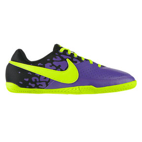 Nike Youth NIKE5 Elastico II Indoor Soccer Shoes (Purple/Yellow)