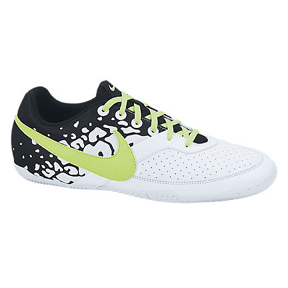 Nike NIKE5 Elastico II Indoor Soccer Shoes (White/Lime)