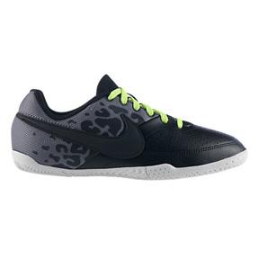 Nike Youth NIKE5 Elastico II Indoor Soccer Shoes (Black/Gray)