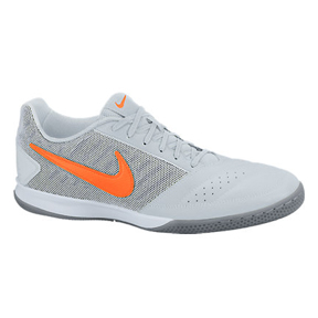 Nike  FC247 Gato II IC Indoor Soccer Shoes (Platinum/Orange)